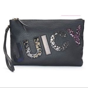 JUICY COUTURE Logo Sequance Wristlet NWT